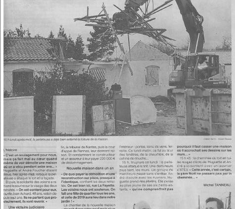 Défaut de construction de maison à Vertou